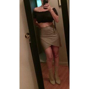 Faux (Vegan) Leather Mini Skirt M